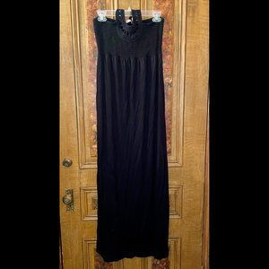 Juicy Couture BLK Crochet Halter Maxi Dress Sz M